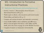 m1 introduction to formative instructional practices