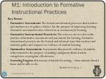 m1 introduction to formative instructional practices1