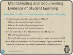 m3 collecting and documenting evidence of student learning