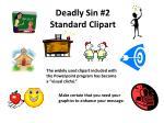 deadly sin 2 standard clipart