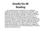 deadly sin 6 reading