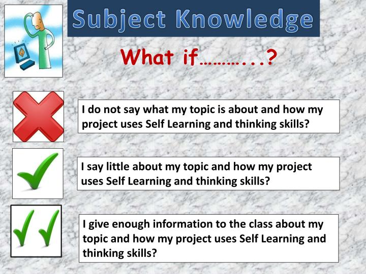 Subject Knowledge