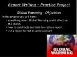 report writing practice project1