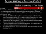 report writing practice project11