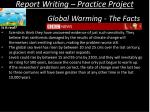 report writing practice project12