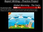 report writing practice project13