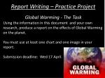 report writing practice project2