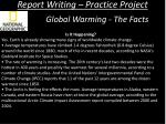 report writing practice project3
