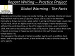 report writing practice project4