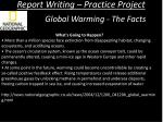 report writing practice project8