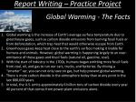 report writing practice project9