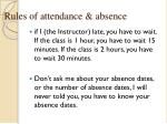 rules of attendance absence2