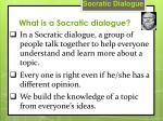 what is a socratic dialogue1
