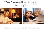 one common goal student learning