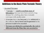 additions to the basic plate tectonic theory1