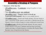 assembly breakup of pangaea
