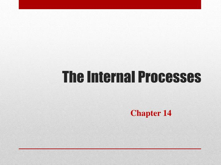 the internal processes n.