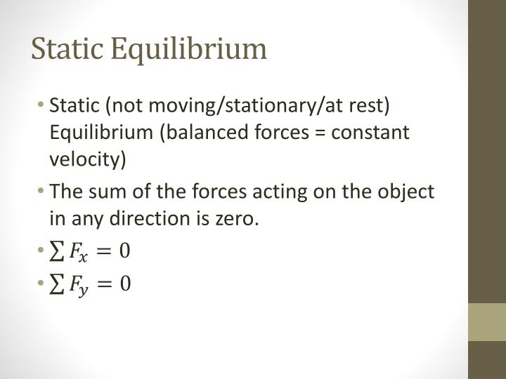 Static equilibrium1