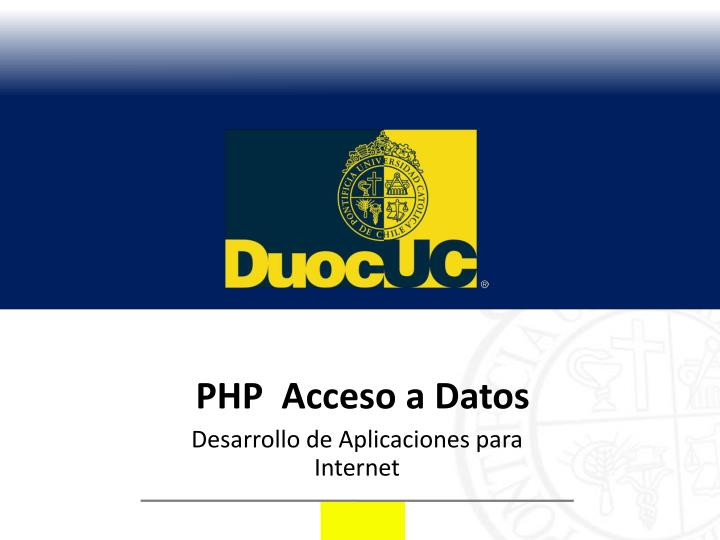 php acceso a datos n.