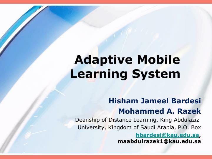 adaptive mobile learning system n.