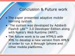 conclusion future work