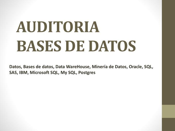 auditoria bases de datos n.