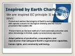 inspired by earth charter