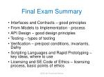 final exam summary
