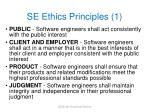 se ethics principles 1