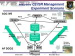integrated c2 isr management experiment scenario
