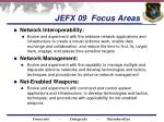 jefx 09 focus areas