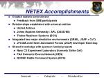 netex accomplishments