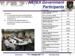 netex government participants