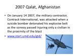 2007 qalat afghanistan