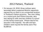 2012 pattani thailand