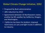 global climate change initiative 2002