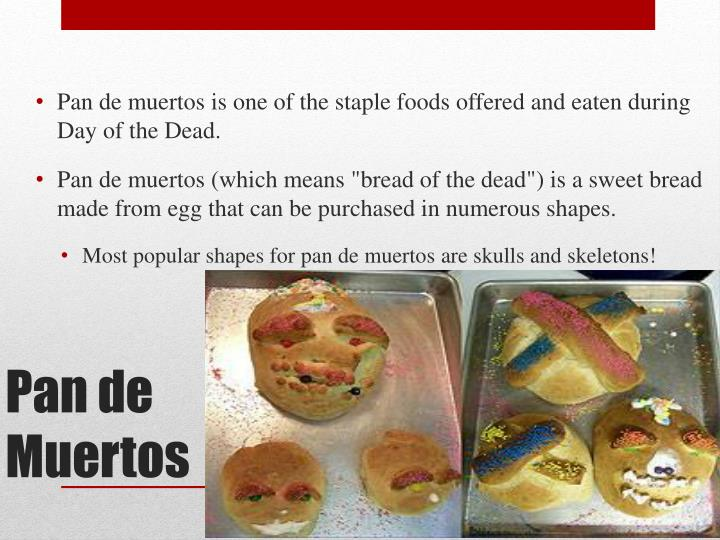 food made during day of the dead food