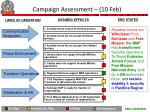 campaign assessment 10 feb