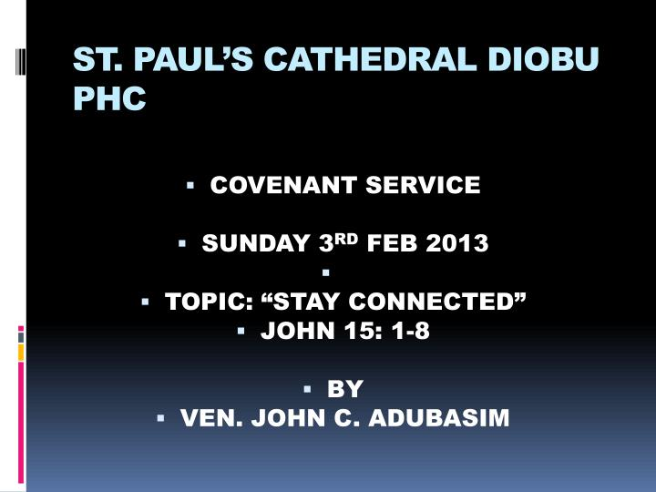 st paul s cathedral diobu phc n.