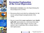keynesian explanation of the great depression