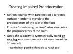 treating impaired proprioception