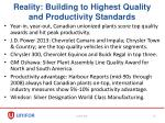 reality building to highest quality and productivity standards