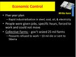 economic control