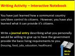 writing activity interactive notebook