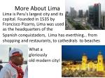 more about lima