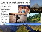 what s so cool about peru