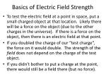 basics of electric field strength