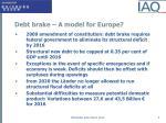 debt brake a model for europe
