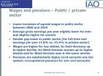 wages and pensions public private sector