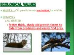 ecological values